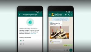 WHATSAPP INTRODUIT LA DISPARITION DES MESSAGES